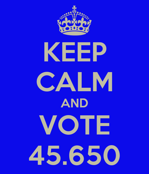 KEEP CALM AND VOTE 45.650
