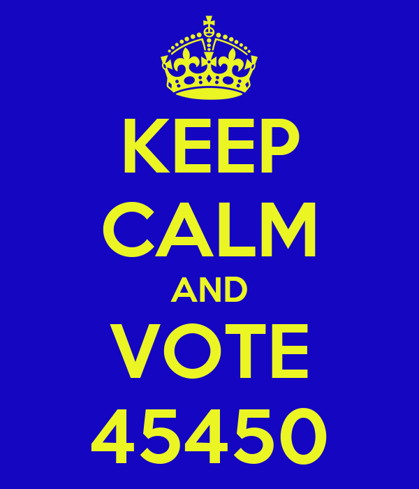 KEEP CALM AND VOTE 45450