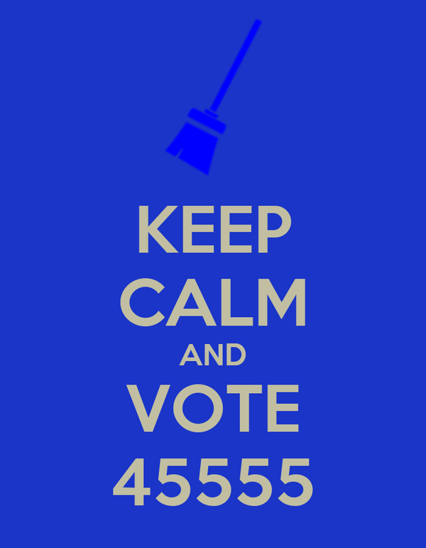 KEEP CALM AND VOTE 45555