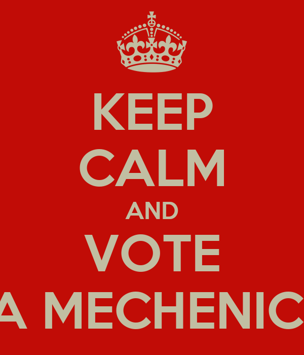 KEEP CALM AND VOTE A MECHENICI