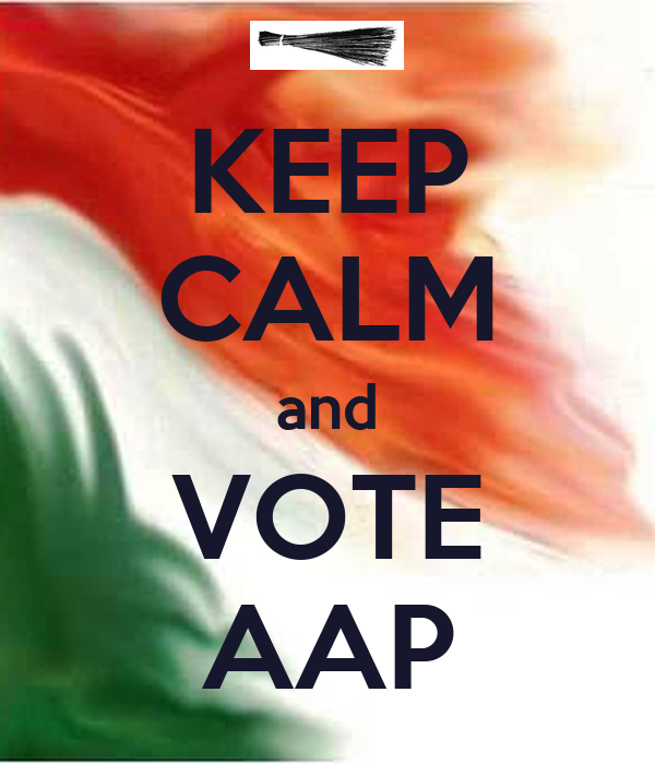 KEEP CALM and VOTE AAP