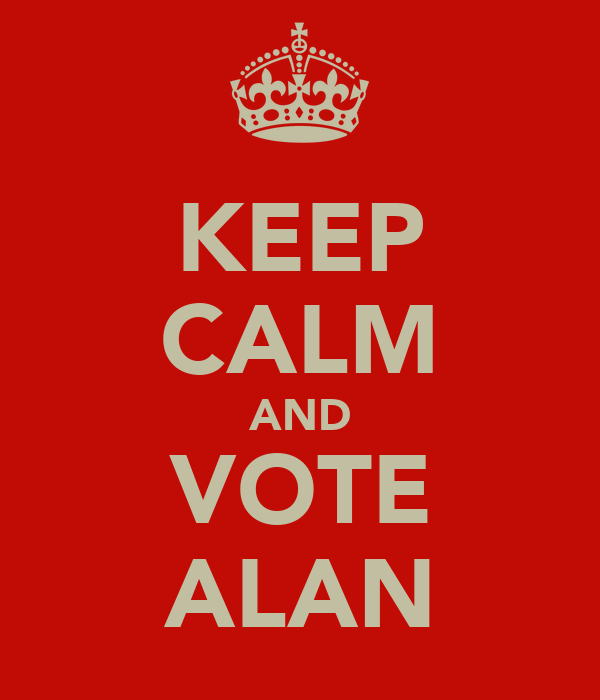 KEEP CALM AND VOTE ALAN