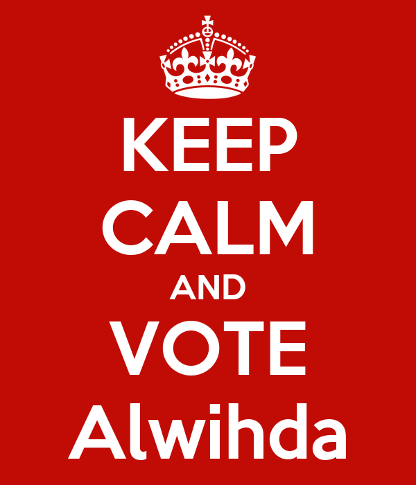 KEEP CALM AND VOTE Alwihda
