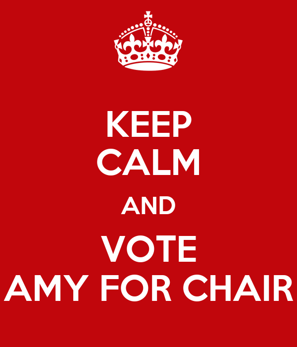KEEP CALM AND VOTE AMY FOR CHAIR