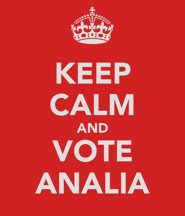 KEEP CALM AND VOTE ANALIA