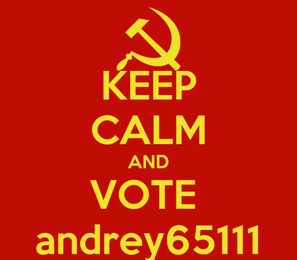 KEEP CALM AND VOTE  andrey65111