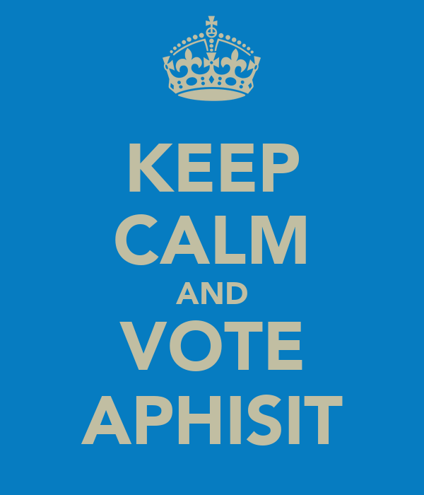 KEEP CALM AND VOTE APHISIT