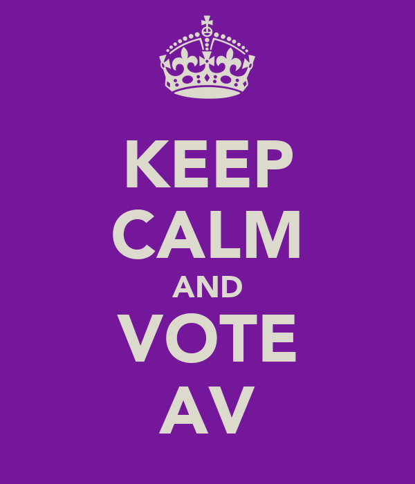 KEEP CALM AND VOTE AV