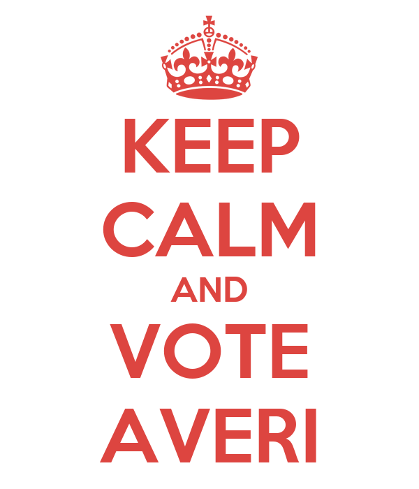 KEEP CALM AND VOTE AVERI