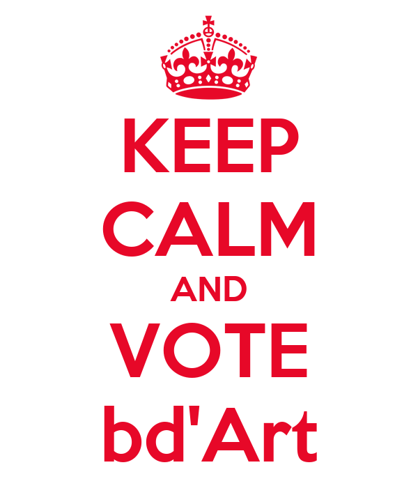 KEEP CALM AND VOTE bd'Art