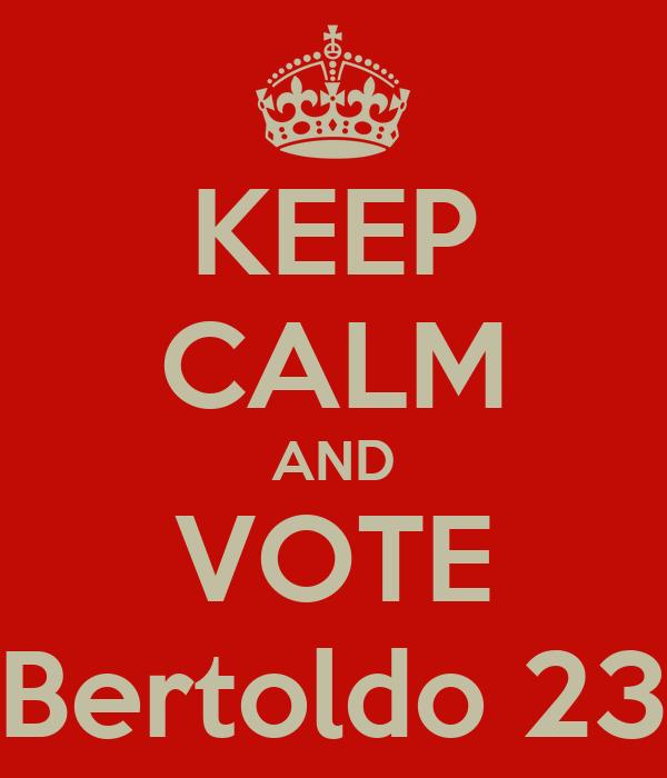 KEEP CALM AND VOTE Bertoldo 23