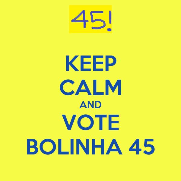 KEEP CALM AND VOTE  BOLINHA 45