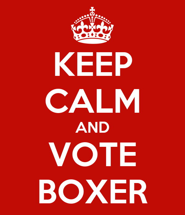 KEEP CALM AND VOTE BOXER