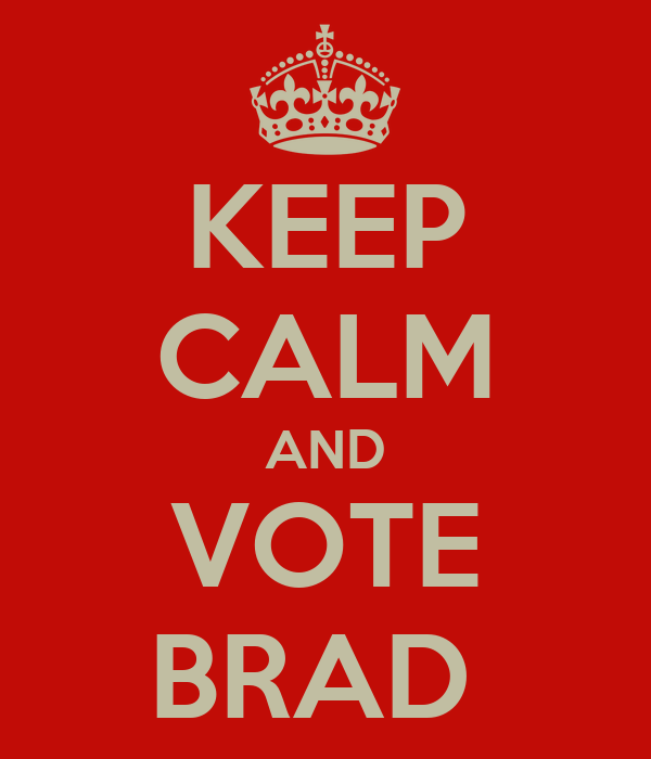 KEEP CALM AND VOTE BRAD