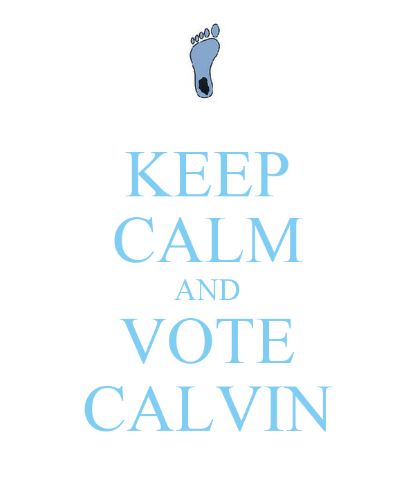 KEEP CALM AND VOTE CALVIN