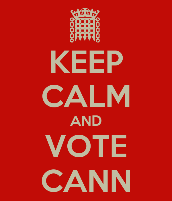 KEEP CALM AND VOTE CANN