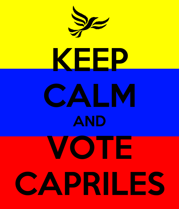 KEEP CALM AND VOTE CAPRILES