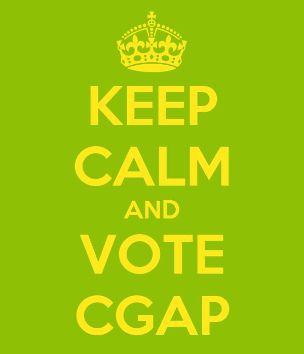 KEEP CALM AND VOTE CGAP