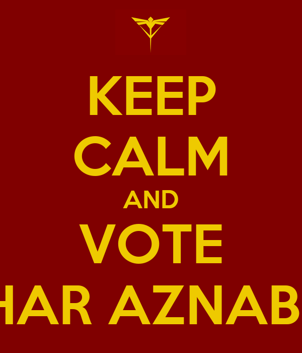 KEEP CALM AND VOTE CHAR AZNABLE