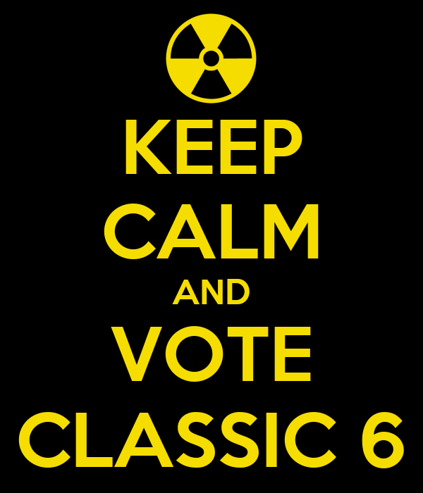 KEEP CALM AND VOTE CLASSIC 6