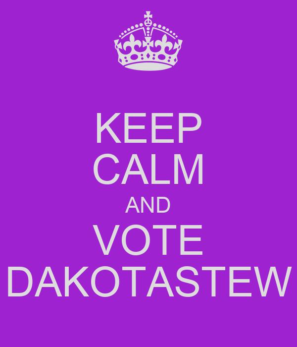 KEEP CALM AND VOTE DAKOTASTEW