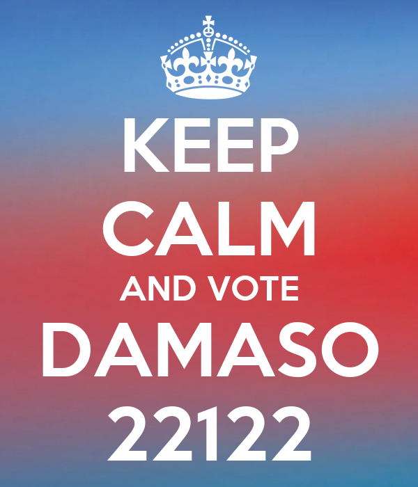 KEEP CALM AND VOTE DAMASO 22122