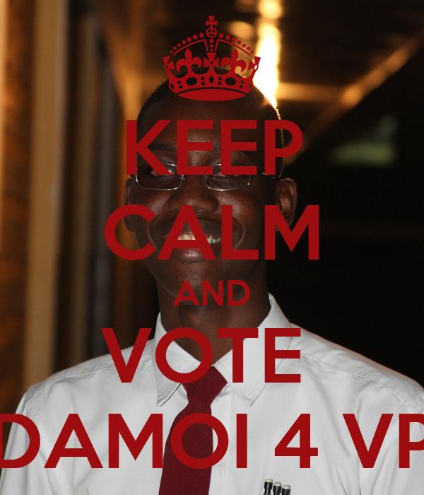 KEEP CALM AND VOTE  DAMOI 4 VP
