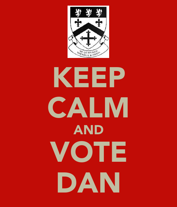 KEEP CALM AND VOTE DAN