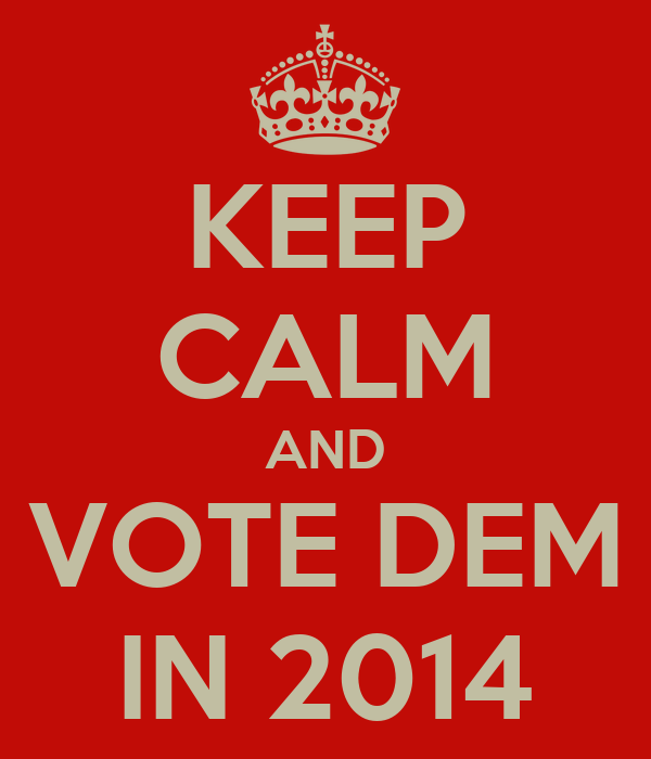 KEEP CALM AND VOTE DEM IN 2014