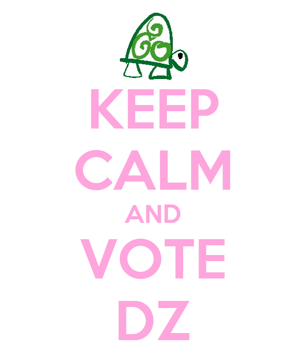 KEEP CALM AND VOTE DZ