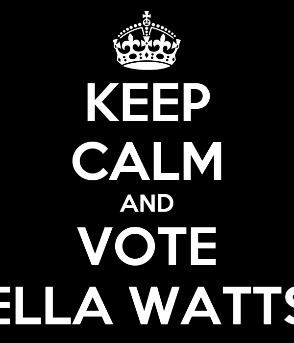 KEEP CALM AND VOTE ELLA WATTS