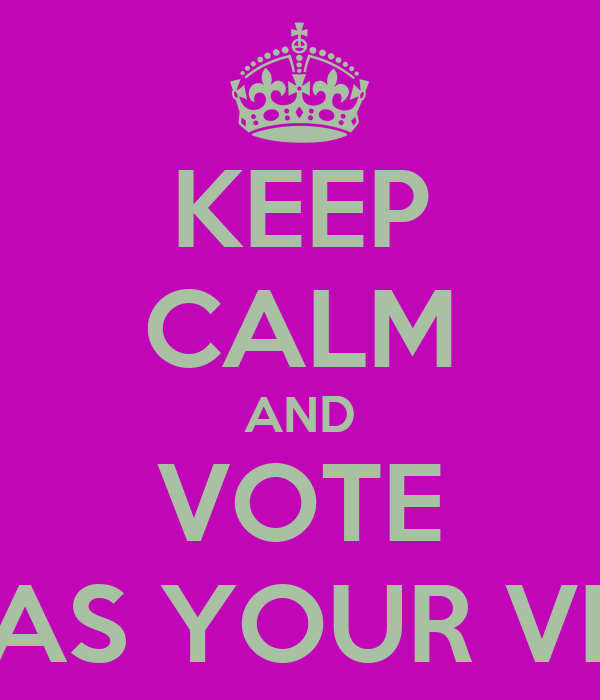 KEEP CALM AND VOTE EMILY FOLTZ AS YOUR VICE PRESIDENT