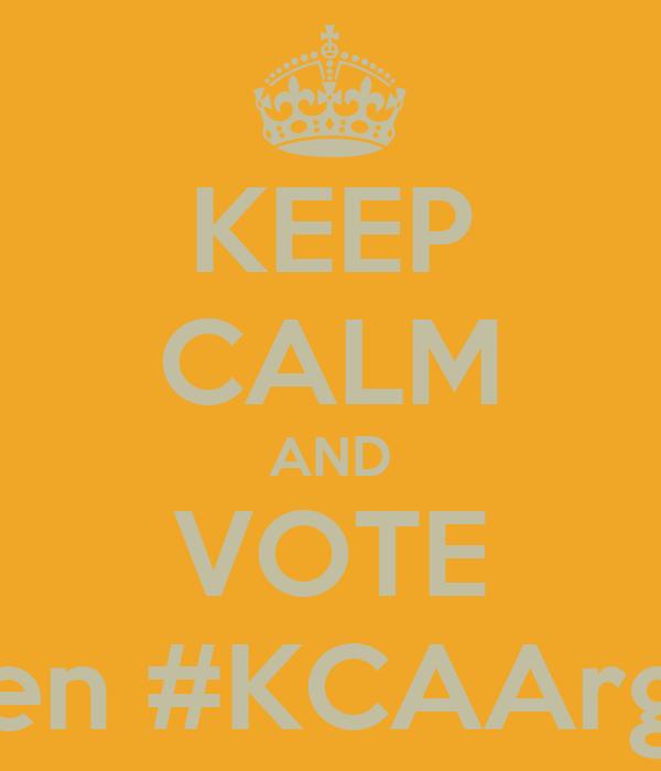 KEEP CALM AND VOTE en #KCAArg