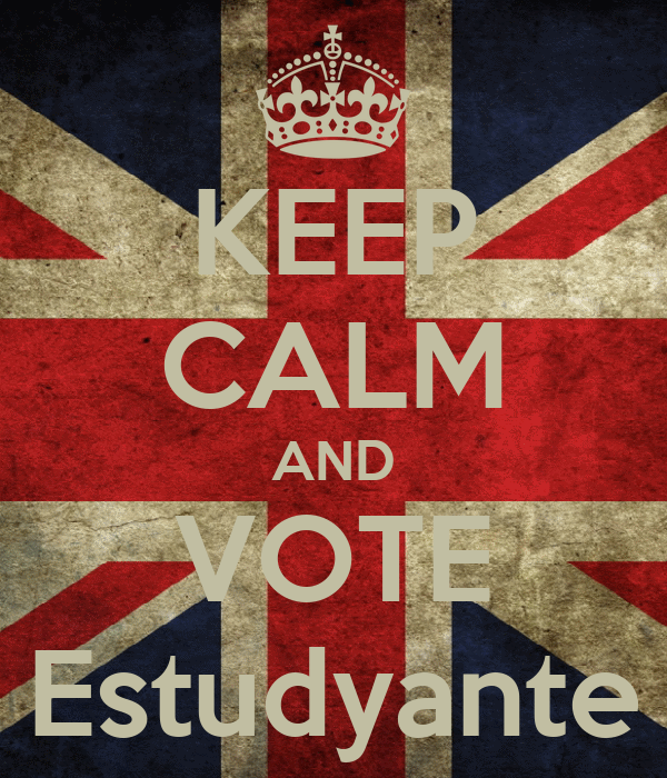 KEEP CALM AND VOTE Estudyante
