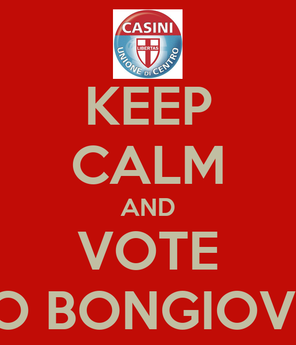 KEEP CALM AND VOTE FABIO BONGIOVANNI