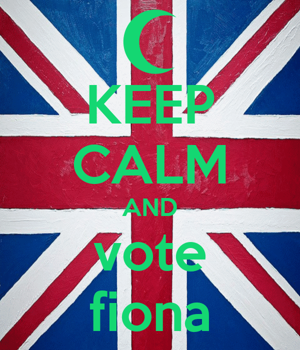 KEEP CALM AND vote fiona