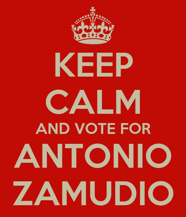 KEEP CALM AND VOTE FOR ANTONIO ZAMUDIO