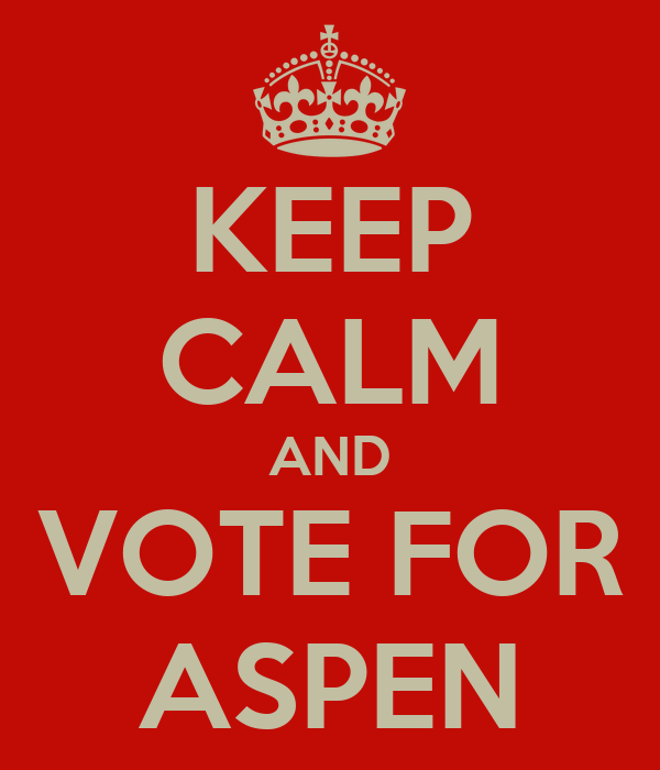 KEEP CALM AND VOTE FOR ASPEN