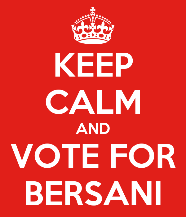 KEEP CALM AND VOTE FOR BERSANI