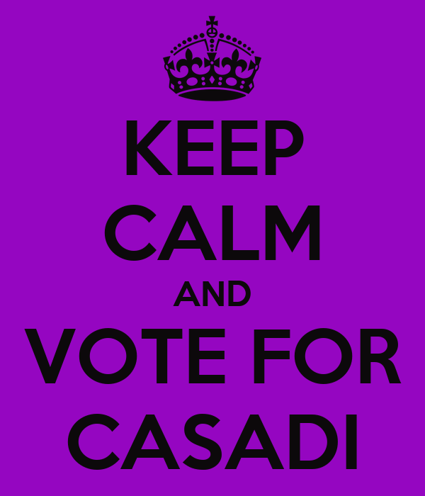 KEEP CALM AND VOTE FOR CASADI