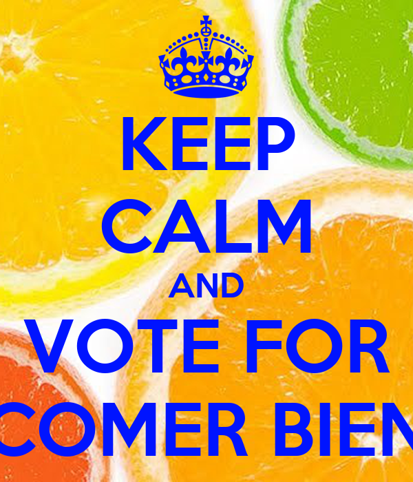 KEEP CALM AND VOTE FOR COMER BIEN
