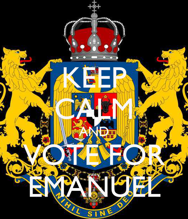 KEEP CALM AND VOTE FOR EMANUEL