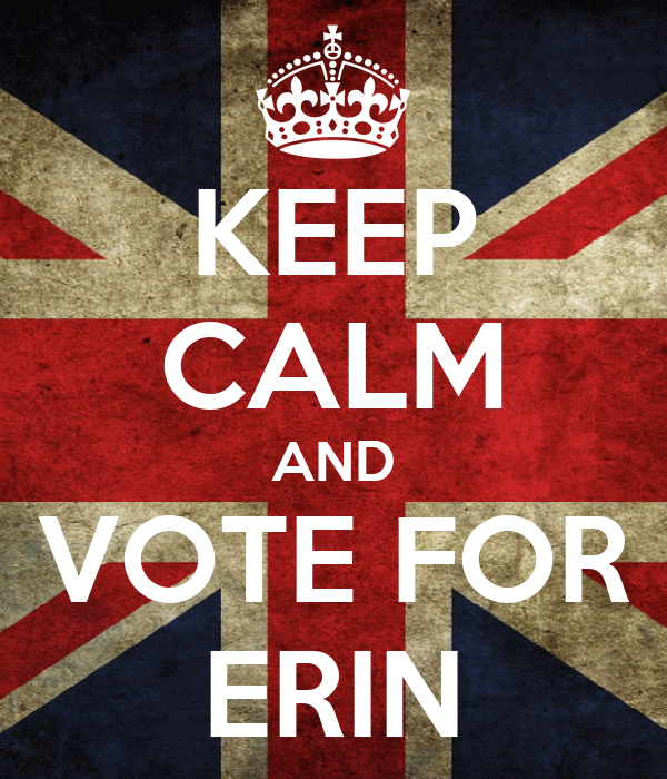 KEEP CALM AND VOTE FOR ERIN