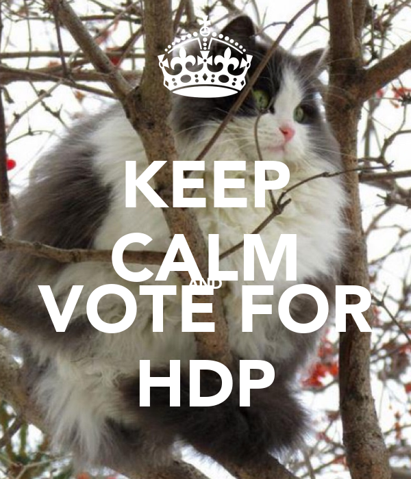 KEEP CALM AND VOTE FOR HDP