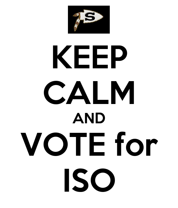 KEEP CALM AND VOTE for ISO