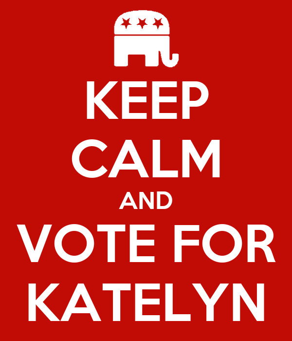 KEEP CALM AND VOTE FOR KATELYN