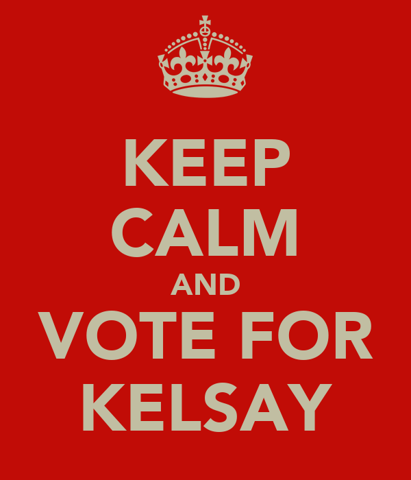 KEEP CALM AND VOTE FOR KELSAY