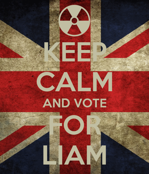 KEEP CALM AND VOTE FOR LIAM