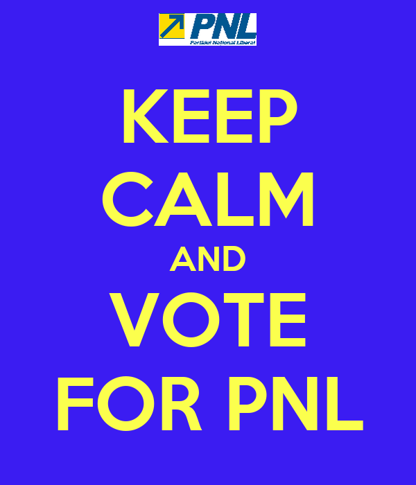 KEEP CALM AND VOTE FOR PNL