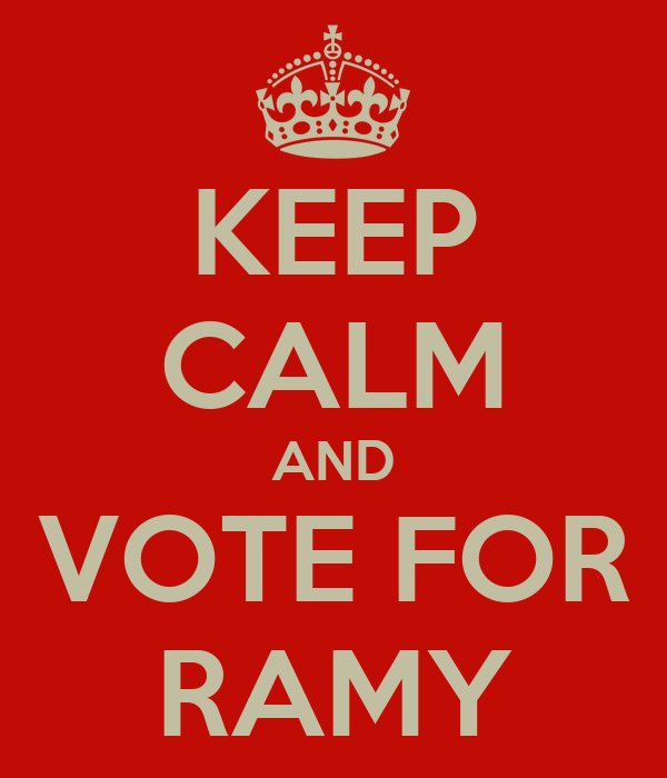 KEEP CALM AND VOTE FOR RAMY